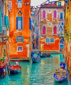 Venice City paint by number