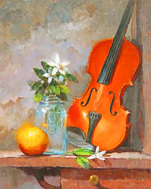 Violin Still Life paint by numbers