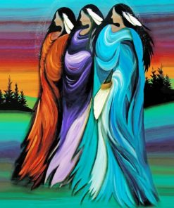 Abstract Native Ladies paint by numbers