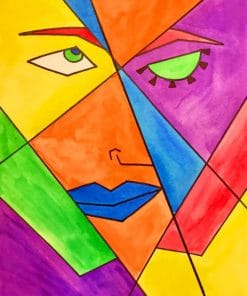 Abstract Picasso Art paint by numbers
