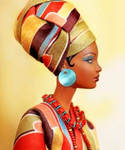 African Lady Art paint by numbers