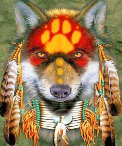 Amerindian Wolf paint by numbers
