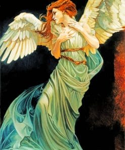 Angel Beautiful Lady paint by numbers