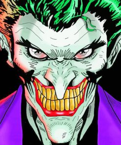 Angry Joker paint by numbers