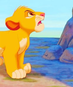 Angry Lion King Cub paint by numbers