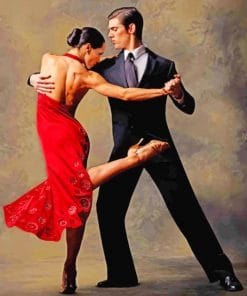 Argentine Tango Dancers paint by numbers
