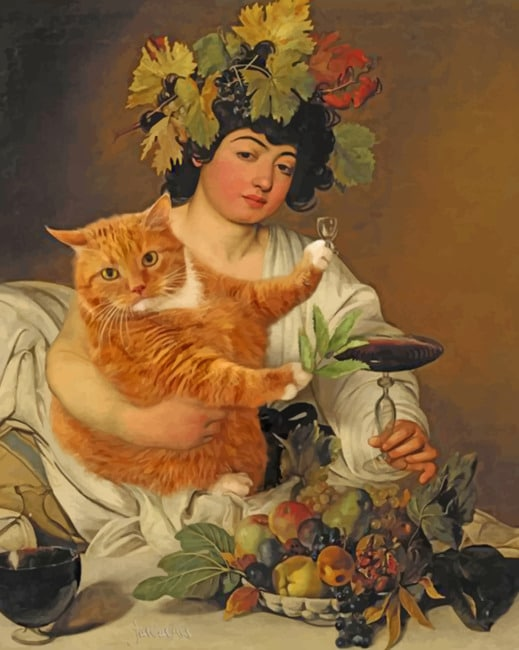 Bacchus Caravaggio paint by numbers