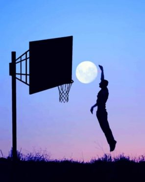 Basketball Moon paint by numbers