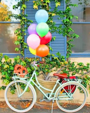 Bicycle Balloons paint by numbers