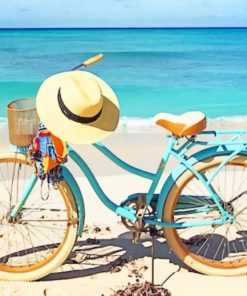 Bike In Beach paint by numbers
