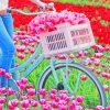 Bike In Tulips Field paint by numbers