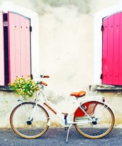 Bike With Pink Windows paint by numbers