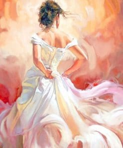 Bride Dress paint by numbers