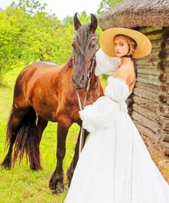 Bride With Horse paint by numbers
