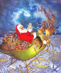 Christmas Santa Celebration paint by numbers