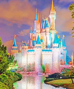 Cinderella Castle paint by numbers