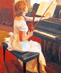 Classical Pianist Female paint by numbers