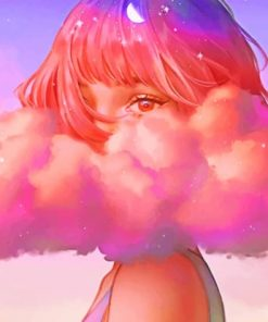 Cloud Girl paint by numbers