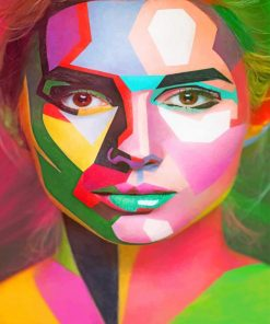 Colored Face Art paint by numbers