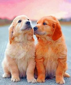 Cute Puppies paint by numbers