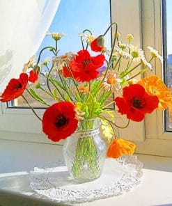 Daisies In A Vase paint by numbers