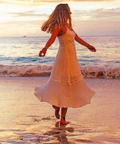 Dancing Girl In Sea paint by numbers