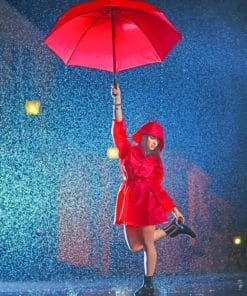 Dancing Girl In Rainy Night paint by numbers