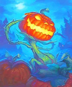 Evil Pumpkin paint by numbers