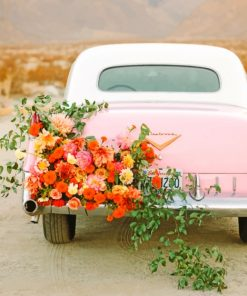 Floral Car paint by numbers