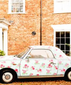 Floral Volkswagen paint by numbers