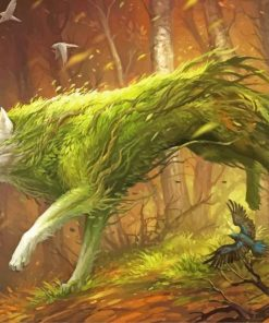 Forest Wolf paint by numbers