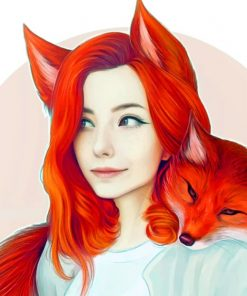 Fox Girl Art paint by numbers
