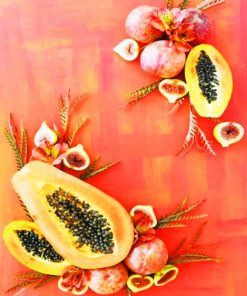 Fruits Photography paint by numbers