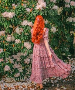 Ginger Girl In Garden paint by numbers