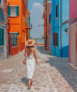 Girl In Italy paint by numbers