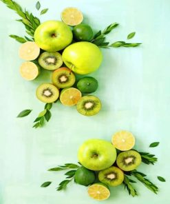 Green Fruits paint by numbers