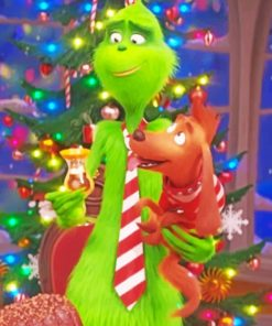 Grinch And Max paint by numbers