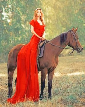 Horse And Girl Photography paint by numbers