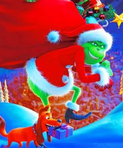 How The Grinch Stole The Christmas Paint by numbers