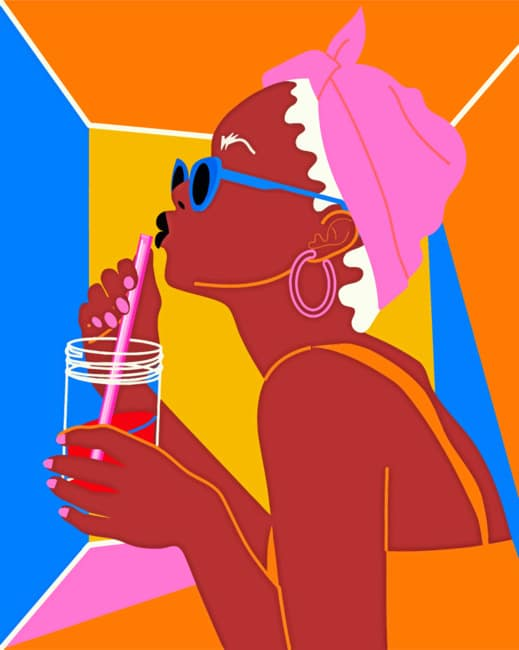 Illustration African Woman paint by numbers