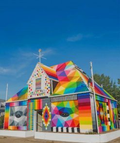 Immaculate Conception Catholic Church paint by numbers