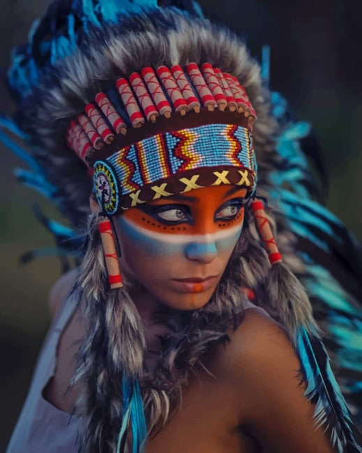 Indigenous Girl paint by numbers