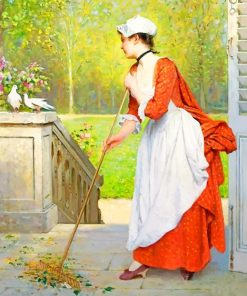 Joseph Caraud Cleaning Woman paint by numbets