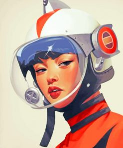 Korean Astronaut Girl paint by numbers