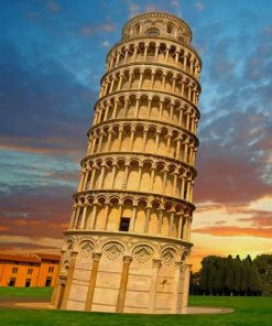 Leaning Tower Of Pisa Italy paint by numbers