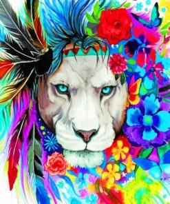 Lion Art paint by numbers
