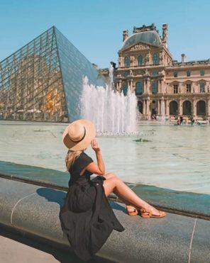 Louvre Museum Paris France Paint by numbers