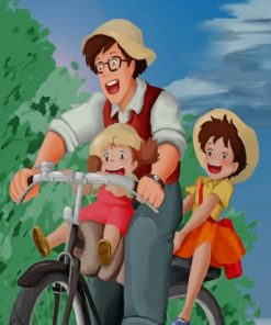 Mei And Her Little Family paint by numbers