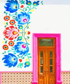 Mexican Door paint by numbers