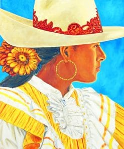 Mexican Girl paint by numbers